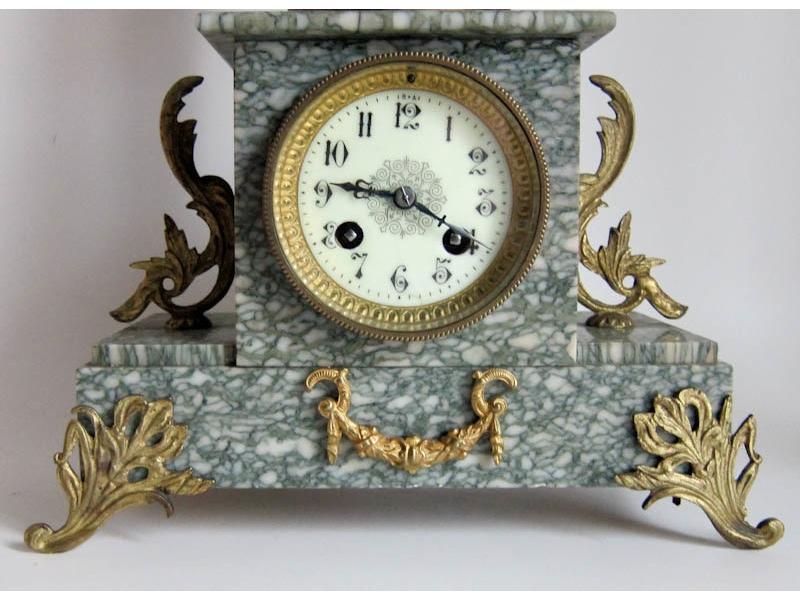 kaminuhr um 1900 mit bronze figur g omerth belgien jugendstil ebay. Black Bedroom Furniture Sets. Home Design Ideas