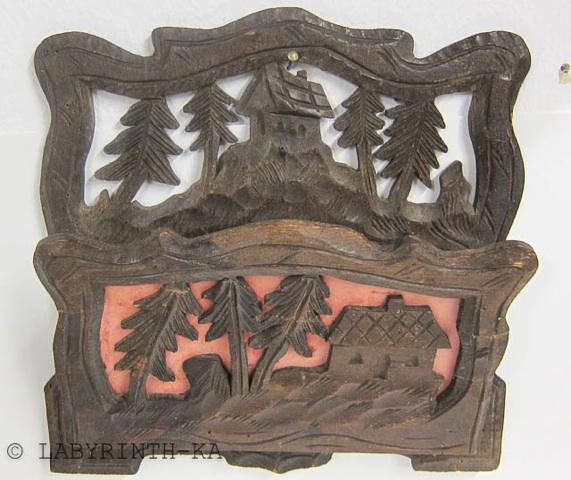 alter wand zeitungshalter aus holz um 1920 schwarzwald ebay. Black Bedroom Furniture Sets. Home Design Ideas