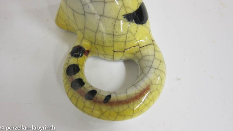 gelbe katze karlsruher majolika walter bosse h he 15 cm ebay. Black Bedroom Furniture Sets. Home Design Ideas