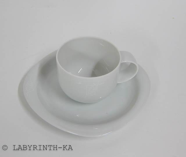 kaffeetasse mit ut rosenthal suomi wei es porzellan mit blatt ebay. Black Bedroom Furniture Sets. Home Design Ideas