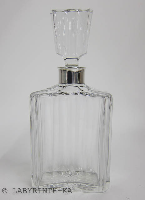kristall karaffe silbermontur 835 silber whisky flasche. Black Bedroom Furniture Sets. Home Design Ideas