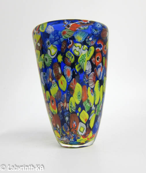 murano glas millefiori vase ebay. Black Bedroom Furniture Sets. Home Design Ideas